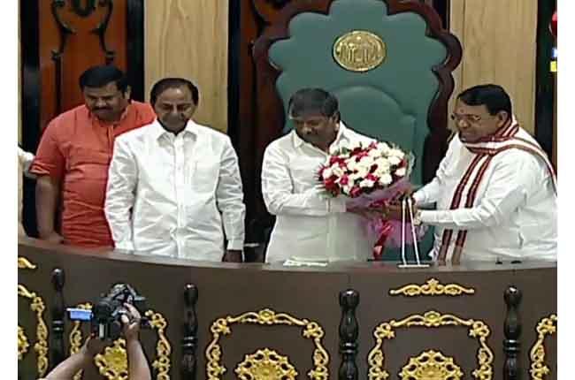 Dy.Speaker Padmarao Goud Elect   CM KCR Speech In Telangana Assembly