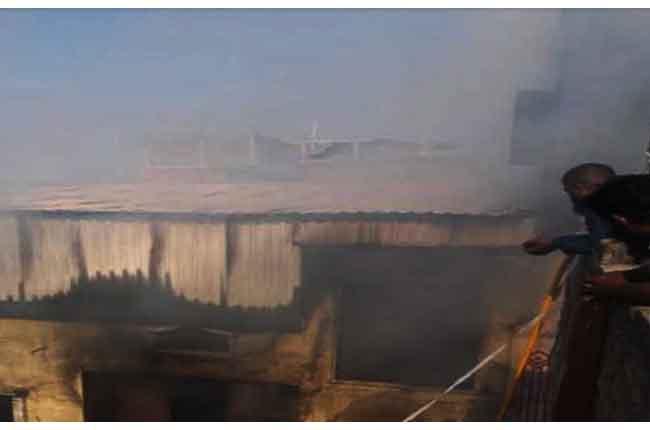 Fire broke Asif Nagar Area
