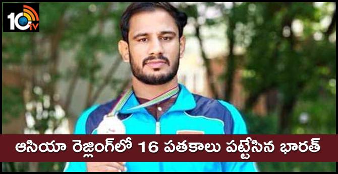 Harpreet silver, Gyanender bronze India 16 medals Asian Wrestling Championships