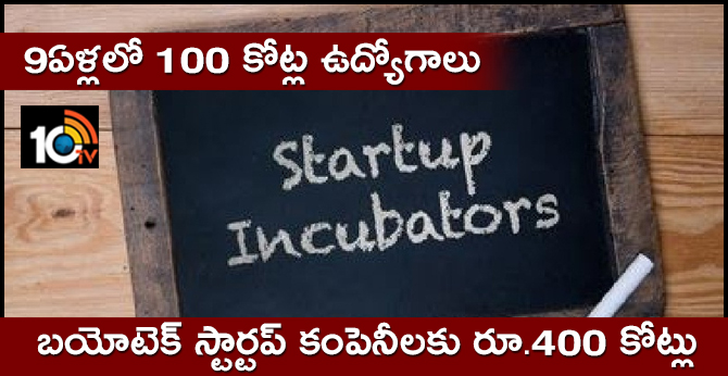 rs 400 crore for biotech incubation centres