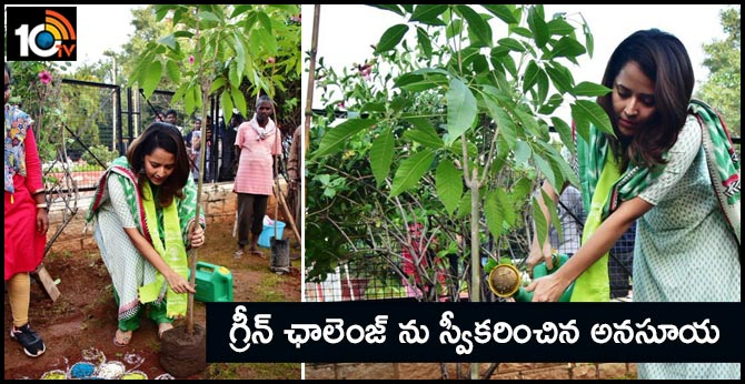 Anusuya Received the Green Challenge