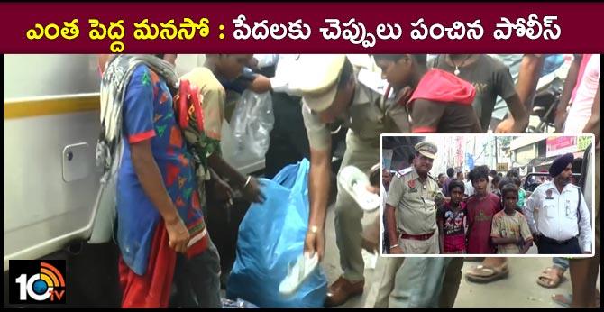 Ludhiana  traffic cop distributes slippers to needy in Punjab