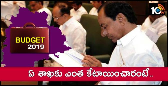 telangana budget 2019, departments and allocations