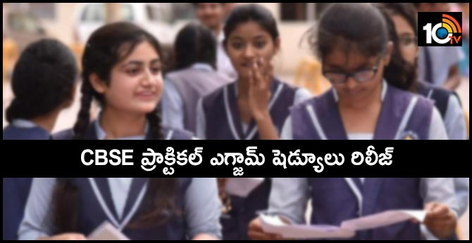 CBSE 10th and 12th Practical Exam Datesheet 2020 Released