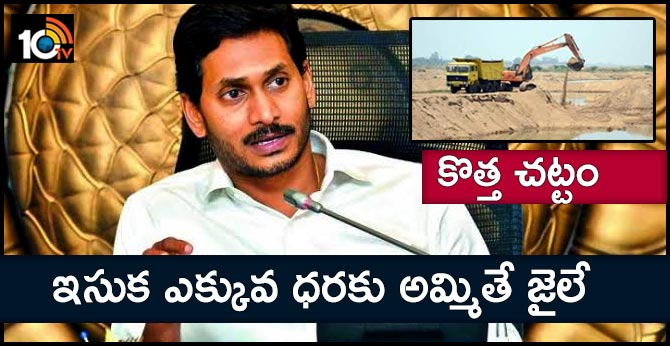 CM jagan review on sand supply