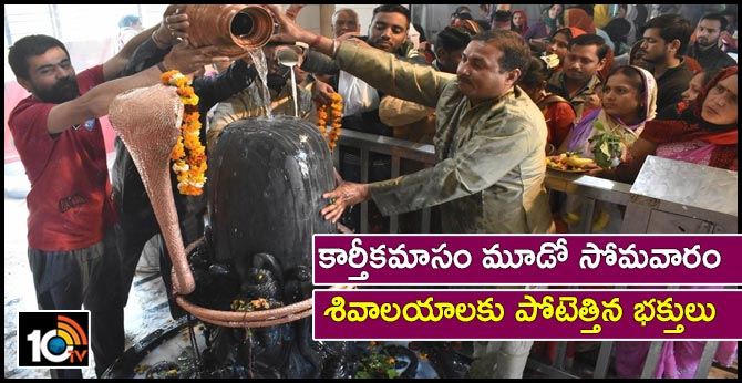 devotees perform special pooja to lord shiva for karthika masam third monday