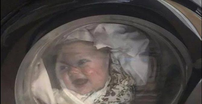 A Man Terrified After Seeing His Baby In Washing Machine - After Sometime He Realises IT's A T-Shirt