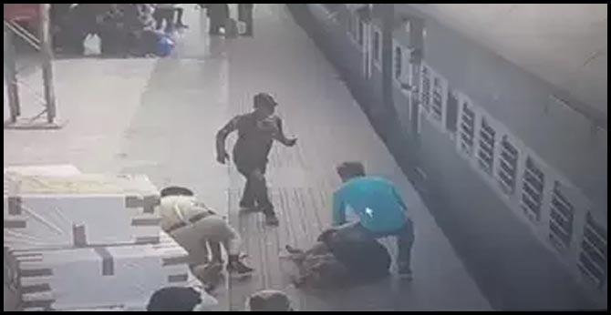 RPF Jawan rescued lady passenger in secunderabad railway station