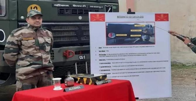 special integrated Vehicle Safety System for safety of Army trucks