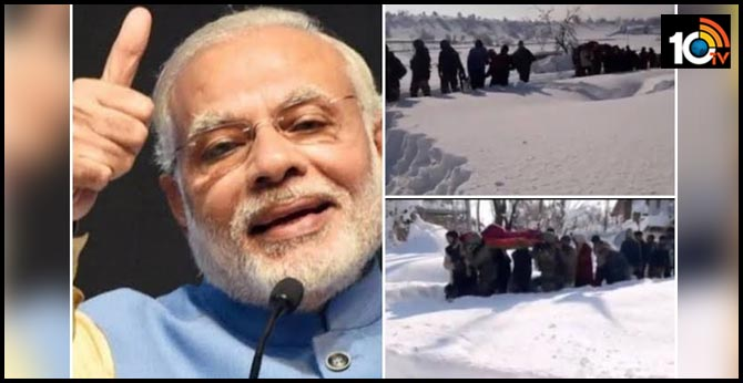 Army Day 2020: PM Modi tweets clip of jawans carrying pregnant woman through heavy snow