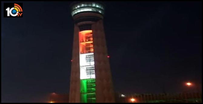 Republic Day 2020: ATC Tower at Delhi's Indira Gandhi International Airport Lit Up in Tri-Colour