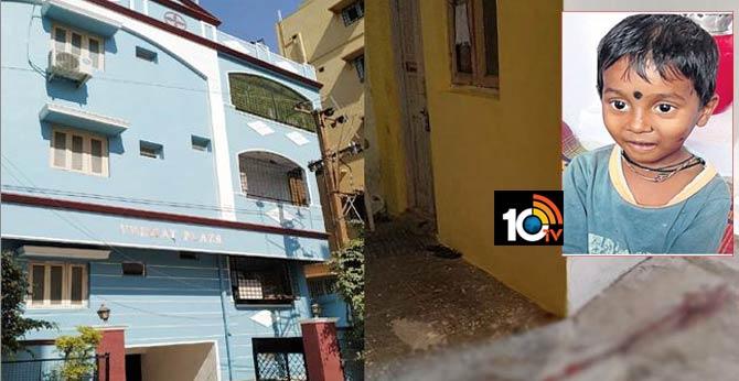 five years boy died in car accident hyderabad, malkajgiri