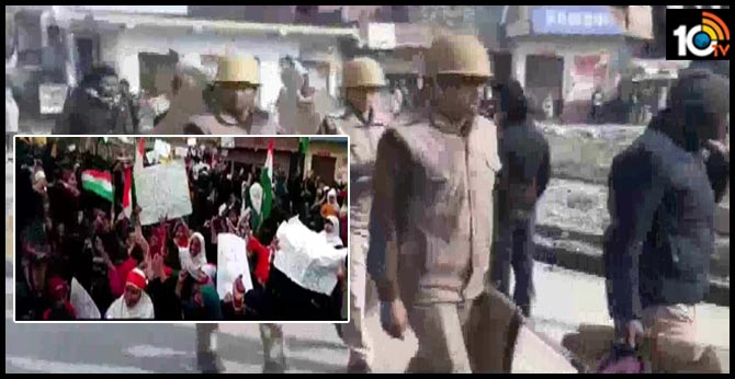 19 held for pelting stones at police in up azamgarh At the CAA protest
