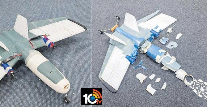 3d UAV flying into air