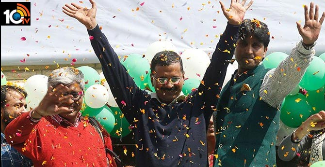 AAP majority in Delhi assembly election results