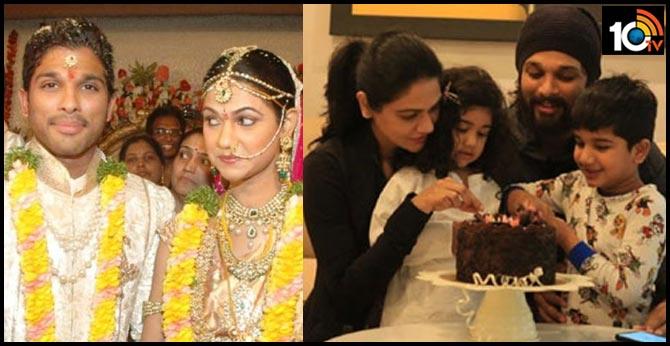 Allu Arjun Wishes to wife Sneha Reddy