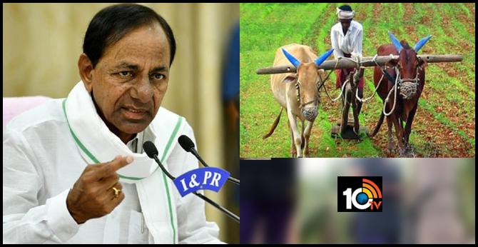 telangana cm kcr to announce good news for farmers