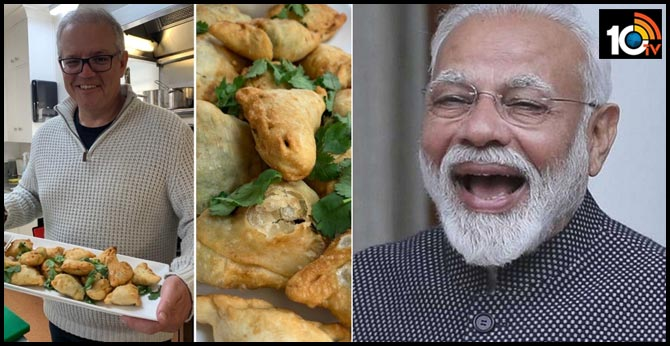 Australian Prime Minister Scott Morrison makes vegetarian samosas with mango chutney, wishes he could share with PM Modi