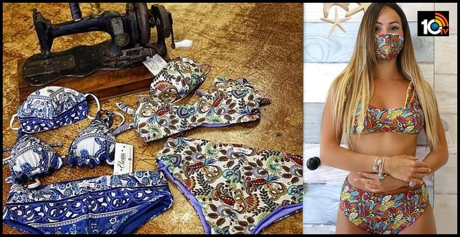 Protection + Fashion: Trikini - A Bikini With Matching Face Mask Is The New Style In Italy