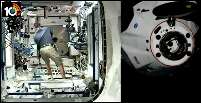 SpaceX Craft With NASA Astronauts Docks With International Space Station