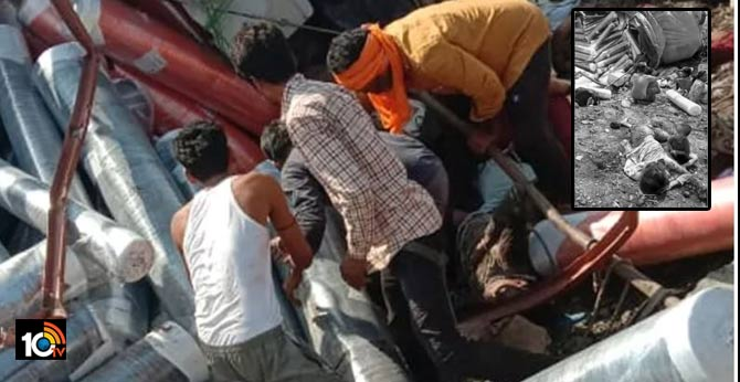 6 migrant killed several injured as truck overturns in madhyapradesh