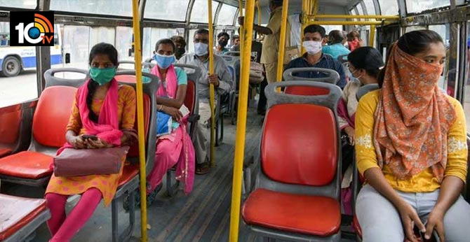 Passengers only allow with mask, do not stand inside Bus