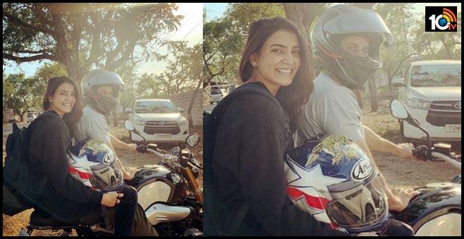 Samantha Akkineni goes on bike ride with Naga Chaitanya