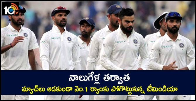 India lose top spot in ICC Test rankings for first time since October 2016