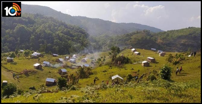 residents of Manipur Tungjoy Village build 80 Huts  that ill unction as quarantine centres