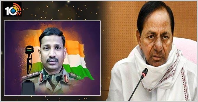 CM KCR will visit Colonel Santosh Babu's family on Monday