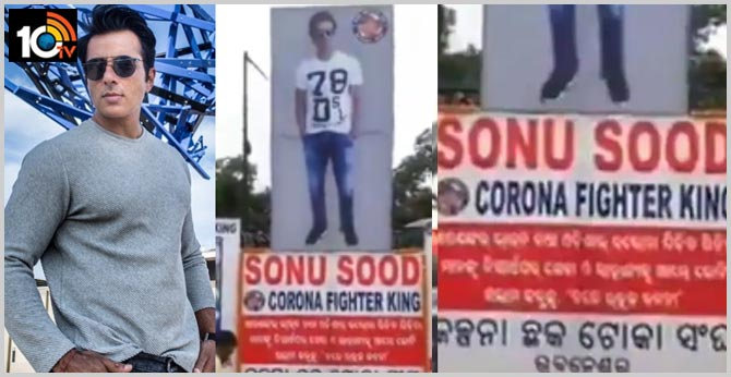 fans honour corona fighter king sonusood