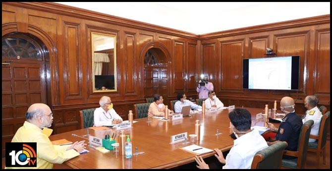 Union Minister AmitShah held review meeting with higher officialson Cyclone