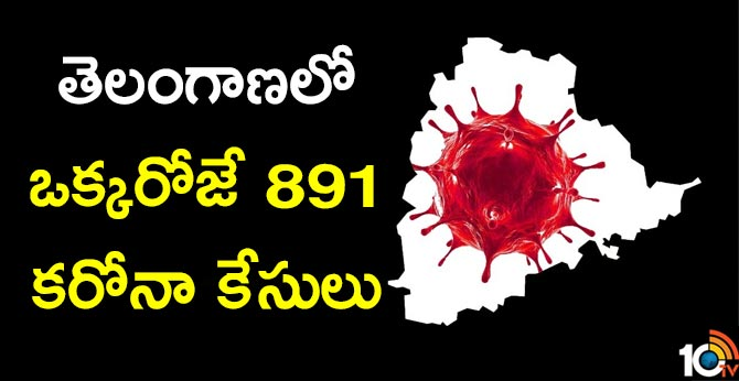 891 corona virus cases in Telangana a single day