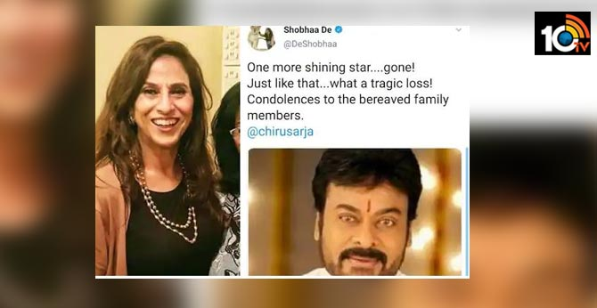 Shobha De Receives Backlash for Posting Wrong Pic of Chiranjeevi Sarja in Condolence Post