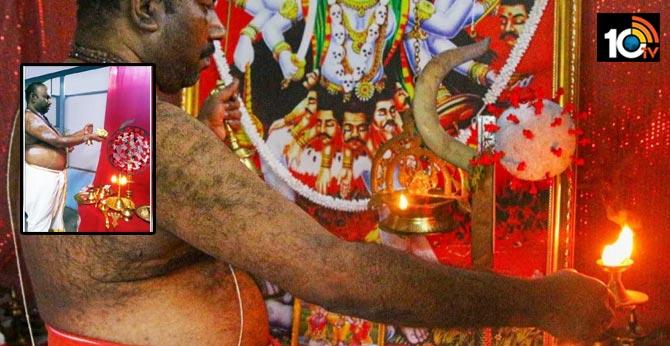 kerala man conducts daily puja for coronavirus