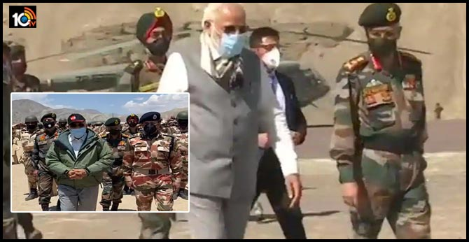 PM Modi Reaches Leh Interact With Soldiers