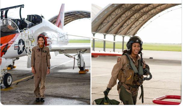 Madeline Swegle makes history as US Navy's 1st Black female fighter pilot