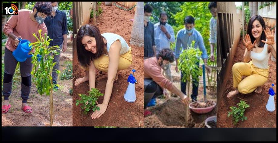 https://10tv.in/movies/actress-raashi-khanna-and-director-prasanth-varma-plant-sapling-under-green-india-challenge-83958.html