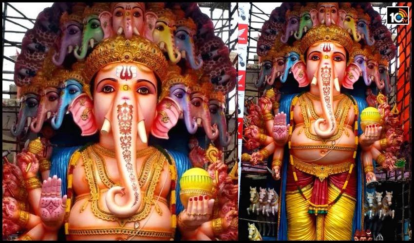 ఖైరతాబాద్ గణేష్..భక్తులకు నో ఎంట్రీ..ఆన్ లైన్ లో పూజలు