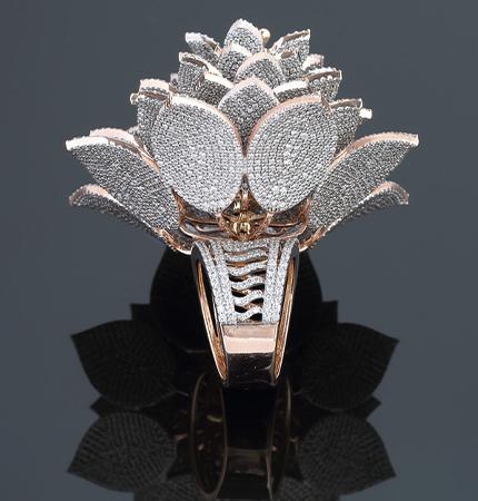 ring containing 7,801 diamonds