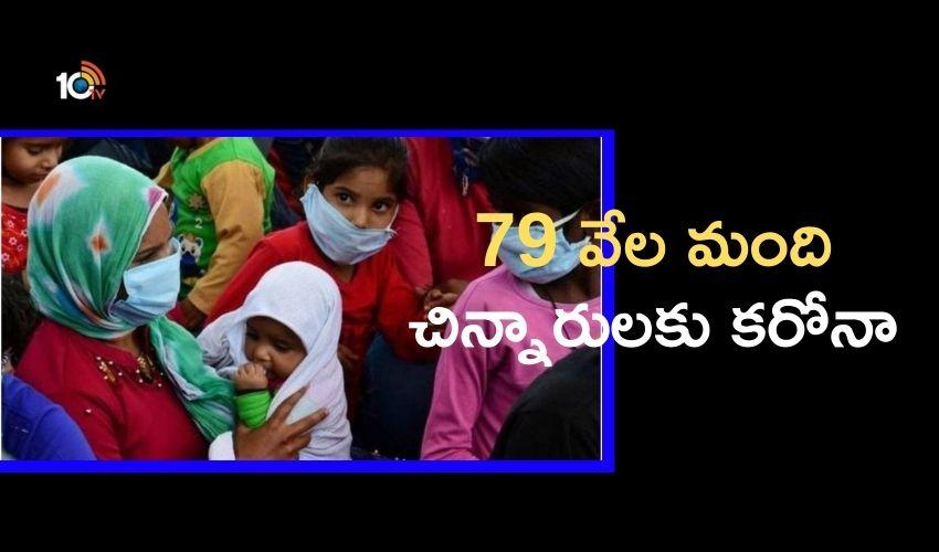 Coronavirus : 30 రోజులు..79 వేల మంది చిన్నారులకు కరోనా