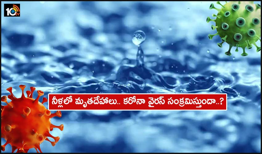 Covid Water : నీళ్లలో మృతదేహాలు.. కరోనా వైరస్ సంక్రమిస్తుందా..? నిపుణులు ఏమంటున్నారు?