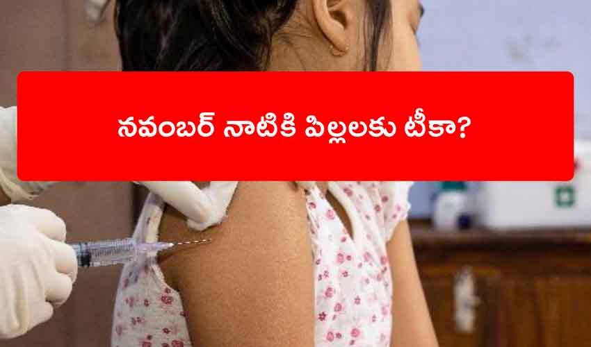 Children Vaccine : దేశంలో నవంబర్ నాటికి పిల్లలకు టీకా?