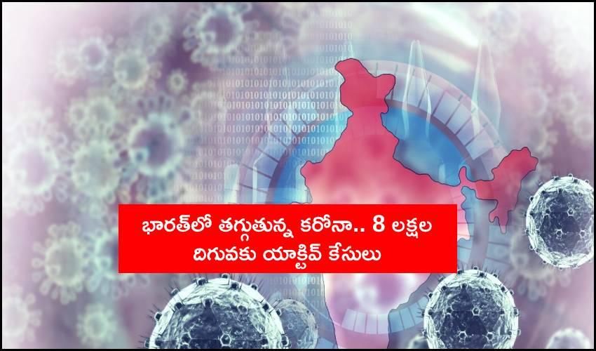 India Coronavirus Updates : భారత్లో తగ్గుతున్న కరోనా.. 8 లక్షల దిగువకు యాక్టివ్ కేసులు