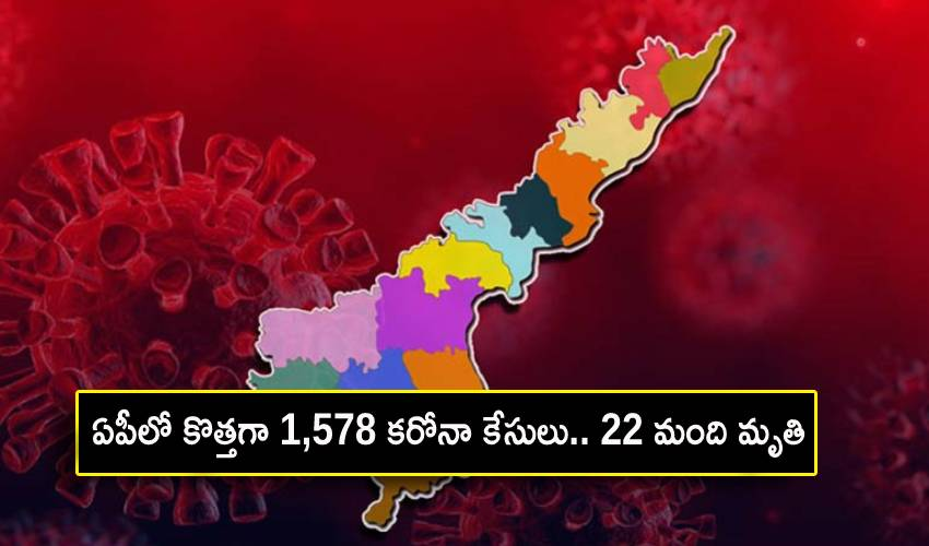 Andhra Pradesh Coronavirus : ఏపీలో కొత్తగా 1,578 కరోనా కేసులు.. 22 మంది మృతి