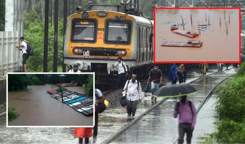 Maharashtra : వానలతో మహారాష్ట్ర అతలాకుతలం, రైళ్లలో చిక్కుకున్న 6 వేల మంది