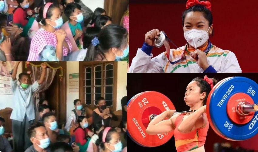 Tokyo Olympics : భారత్ కు తొలి పతకం తెచ్చిన మీరాబాయి ఇంట్లో సంబరాలు