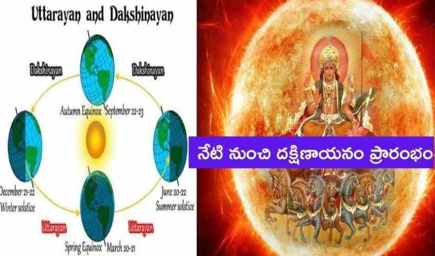 Dakshinayanam : నేటి నుంచి దక్షిణాయనం ప్రారంభం