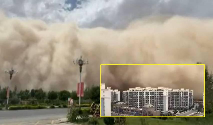 Sandstorm : చైనాలో ఇసుక తుఫాను.. 300 అడుగుల ఎత్తుకు ఇసుక రేణువులు