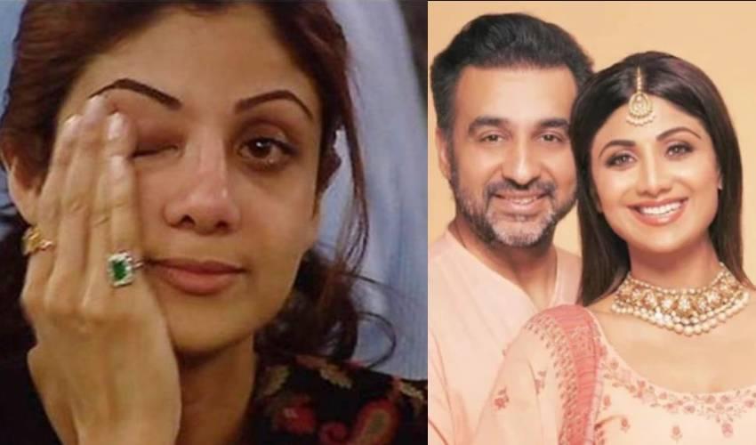 Shilpa Shetty : పోలీసుల ముందు కంటతడి.. భర్తతో గొడవకు దిగిన శిల్పా శెట్టి..